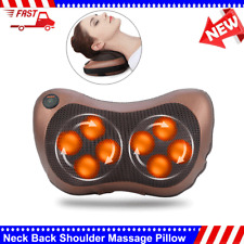 Back & Neck Massager Pillow with Kneading and Heat for Car Home Office Relax