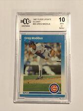 1987 Fleer Update Glossy Greg Maddux BCCG 10 #68 Cubs