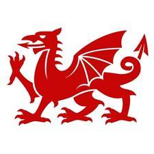 Welsh Cymru Dragon Car Van Bumper Laptop Fridge Vinyl Decal Souvenir Sticker Red