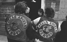 Hells Angels Motorcycle Gang Berdoo 1970's Rally 8.5x11 Photo
