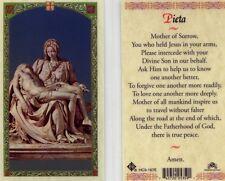 Pieta Prayer Card Mother of Sorrow Catholic Holy Cards Laminated HC9-167E