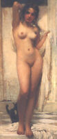 "perfect 24x48 oil painting handpainted on canvas""Bathing Woman""@N5621"