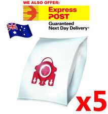 5 VACUUM CLEANER BAGs For MIELE FJM Red 3D COMPACT C1 C2 S4 S6 S290 S381 S6210