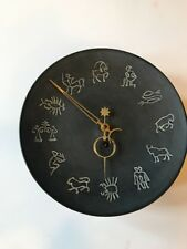 Vintage Metal Clock West Germany ZODIAC Astrological Signs Astrology Very Rare
