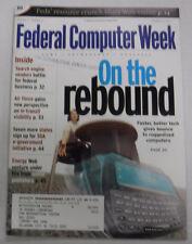 Federal Computer Week Magazine On The Rebound October 2002 071415R