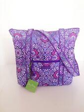 NWT Vera Bradley Villager Tote Shoulder Bag Handbag Purse in Lilac Tapestry