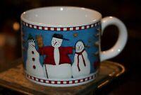 SAKURA SNOWMAN DEBBIE MUMM 1998 VINTAGE  CERAMIC COFFEE TEA MUG CUP LN