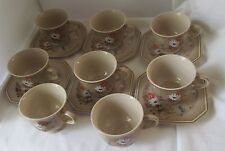 MIKASA INNOVATIONS FOLK DANCE 8 CUPS AND 6 SAUCERS