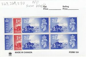GREAT BRITAIN MINT NH,GUM BENDS NO 267,269,270