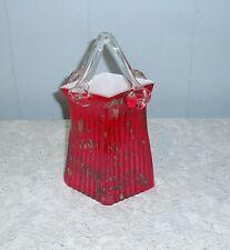 "Murano  STYLE  ART GLASS PURSE HandBag VASE Hand Blown 10 1/2"""