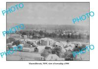 OLD 8x6 PHOTO MUSWELLBROOK NSW PANORAMA OF TOWNSHIP c1900