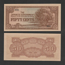 Malaya Japanese Occupation 50 Cents Prefix ME - UNC