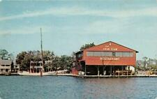 ST MICHAELS MD 1965 View of The Crab Claw Restaurant Overlooking Miles River 572