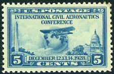 US Scott # 650 Aeronautics Conferance 5¢ (1928)  MH ***FREE SHIP****
