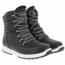 Weatherproof Womens Black Water Repellent Alexa Winter Sneaker Ankle BOOTS 9