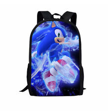 Sonic the Hedgehog Shoulder Backpack Travel Laptop Bag Boys School Bag Gift