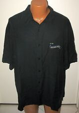 """BOBBY CHAN - NEW - SILK & BAMBOO XXL - EMBROIDERED """" SPORTS """" BUTTON DOWN SHIRT"""