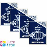 4 Decks Copag 310 Back Moi Up Poker à Jouer Cartes Paper Standard Index Bleu Neu