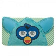 Furby Big Face Fur & Applique Blue Hard Case Snap Close Hinge WALLET Licensed