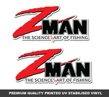 Z Man Lures Stickers x 2 ZMAN Fishing Decals boat tackle swim bait graphics
