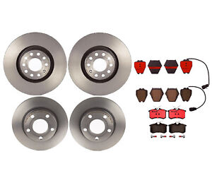 Front Rear Full Brembo Brake Kit Disc Rotors Ceramic Pads For Allroad A6 Quattro
