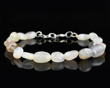 AAA 63.50 CTS NATURAL UNTREATED OVAL SHAPE MULTICOLOR MOONSTONE BEADS BRACELET