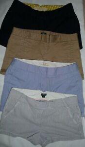 Lot 4 J.Crew Chino Broken-in khaki trouser City Fit shortie short shorts Size 10