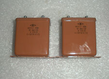 10uF 200V  MBGP-2  USSR PAPER IN OIL PIO AUDIO MILITARY CAPACITOR  Lot of 2pcs