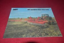 Massey Ferguson 520 620 720 820 Disc Harrows Dealer's Brochure Cdil
