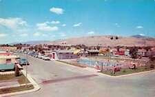 Salt Lake City Utah National Trailer Park Sales Swimming Pool Postcard J73016