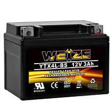 Weize YTX4L-BS  High Performance - Rechargeable - Sealed AGM Motorcycle Battery