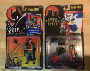 90s Kenner Batman 2 Toy Bundle~Ninja Robin & Harley Quinn
