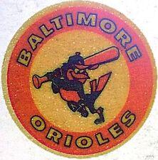 Vintage 70s Baltimore Orioles Baseball Pocket Mini Iron On Transfer RARE!