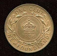 1936 Newfoundland Large Cent Coin with Lustre