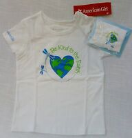White T-Shirt matching Doll & Girls Tops (2) by American Girl 100% Cotton