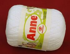 Crochet Yarn / Thread CIRCULO ANNE Mercerized Cotton - #8001 WHITE