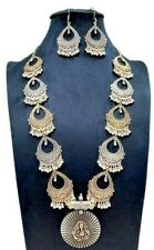 Sobhagya Laxmi Alloy Silver Contemporary Religious Necklace Set Anniversary Gift