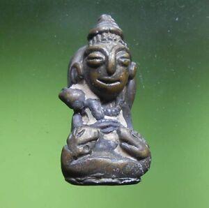 PERFECT! PHRA UPAKOOT HOT OLD BUDDHA AMULET KHMER MINI STATUE