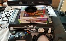 Xbox 360 60gb video game console bundle +4games cables hdmi kinect