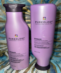 Pureology Hydrate For Dry/Color Treated Hair Shampoo & Conditioner Bundle 9 oz