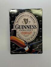 USED Metal Tin Sign Guinness Logo Decor Bar Pub Home Vintage Retro 8 x 11.5