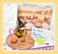 ❤️Wee Forest Folk M-185b Candy Corn Catastrophe! Halloween Witch Mouse LIMITED❤️