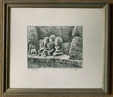Etching Topiary Avril Seeman Limited Edition Garden Horticulture