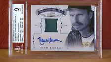 2012 National Treasures Randy Johnson Autographed Jersey Card BGS 9 Auto 10.