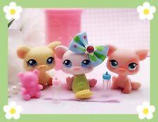 Littlest Pet Shop Authentic LPS Pink Rare PIG LOT #87 475 662 W/ Accessories