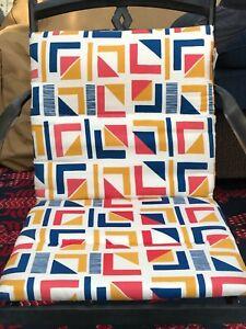 4 New Brown Jordan Outdoor Chair Cushion Patio Garden Pad Nautical