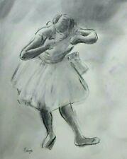 Degas Ballerina Real Drawing. Ballerina in Pose Delicate Beautiful!