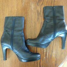 Nine & Co Genuine Leather Black Boots Size 5 1/2