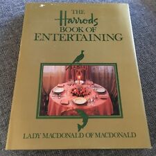 THE HARRODS BOOK OF ENTERTAINING. HARDCOVER WJACKET, 0207154104. LADY MACDONALD