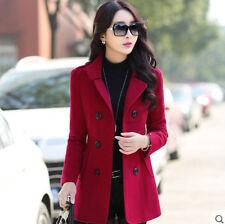HOT Ladies Womens Winter Korean Slim Fit Outwear Warm Coats Jackets Blazer Wool